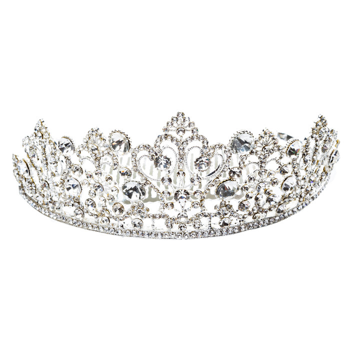 Bridal Wedding Jewelry Crystal Rhinestone Exquisite Crown Tiara H173 Silver
