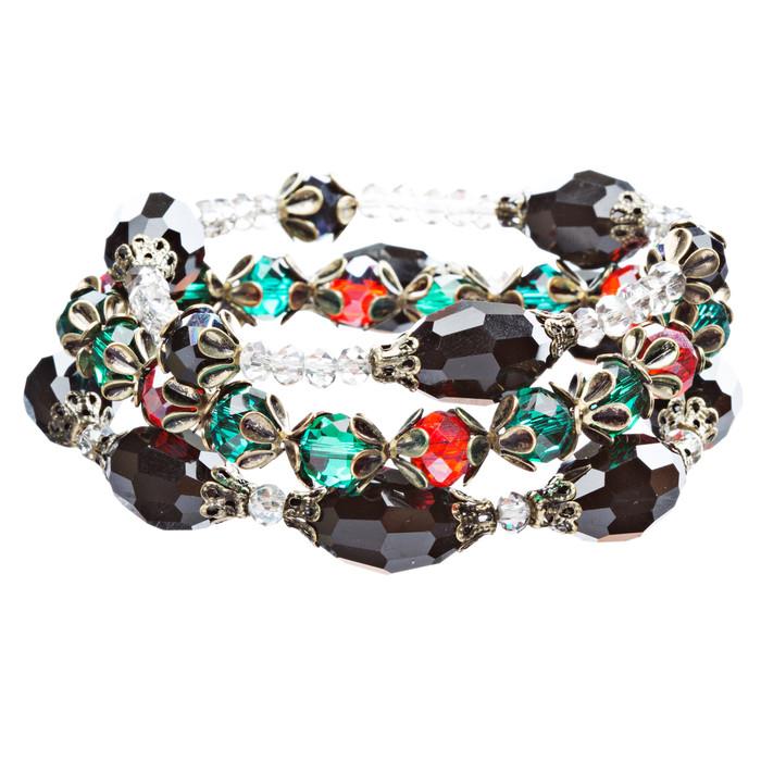 Modern Fashion Crystal Rhinestone Vibrant Fun Wrap Stretch Bracelet B465 Multi