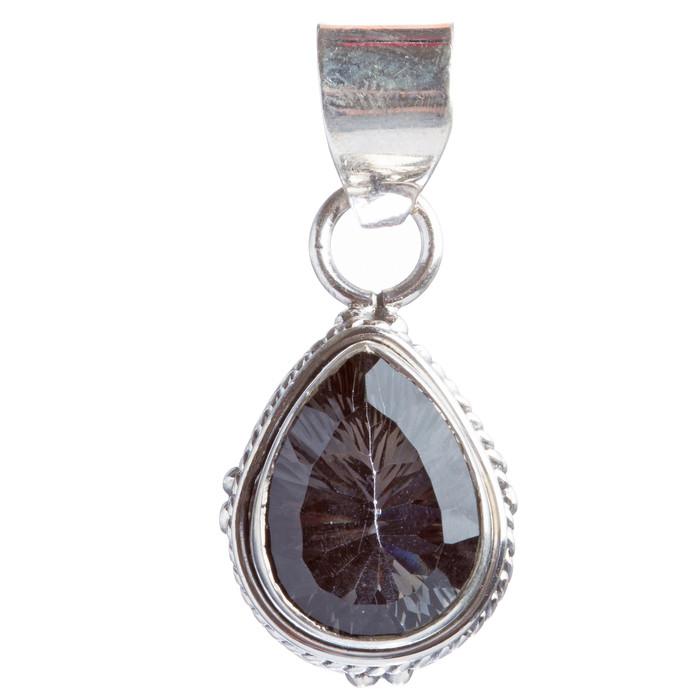 925 Sterling Silver Natural Gemstones Amethyst Pendant FJSVP2076