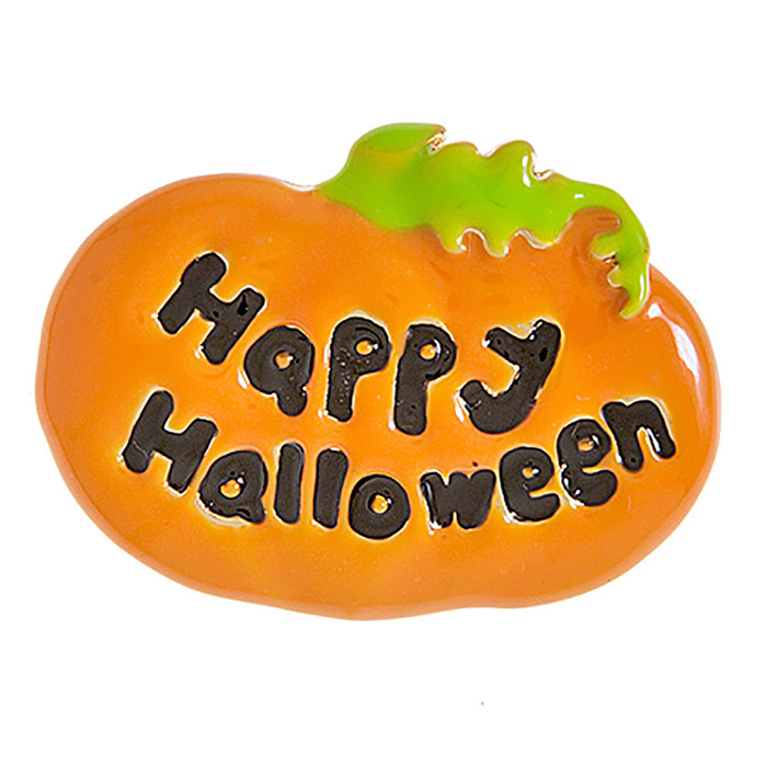 Halloween Costume Jewelry Happy Pumpkin Chamr Enamel Brooch Pin BH209 Orange