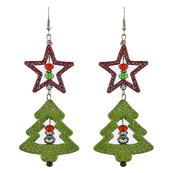Christmas Jewelry Holiday Xmas Tree Design Fashion Dangle Earrings E1189 Multi