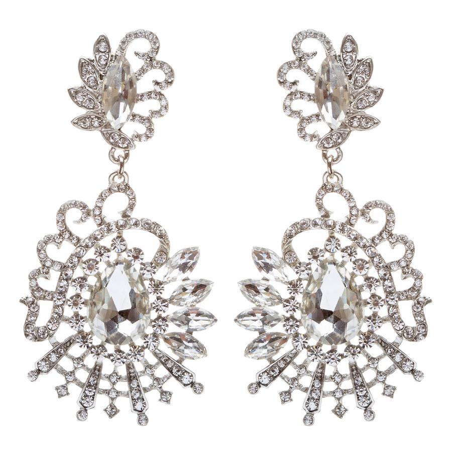 Bridal Wedding Jewelry Crystal Rhinestone Exquisite Unique Dangle Earring E680
