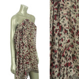 Beach Sarong Pareo Shawl Wrap Leopard N Border Fuschia