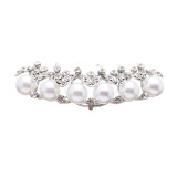 Bridal Wedding Jewelry Set Crystal Rhinestone Pearl Zigzag Dazzle Hair Comb Pin