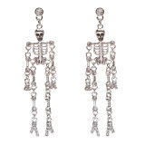 Halloween Costume Jewelry Crystal Rhinestone Dazzle Skeleton Skeleton Earrings