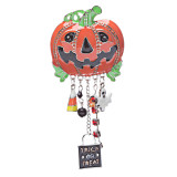 Halloween Costume Jewelry Pumpkin Face Dangle Ghost Charms Brooch Pin Orange