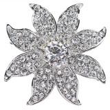 Bridal Wedding Jewelry Crystal Rhinestone Floral Designed Hair Barrette Clip