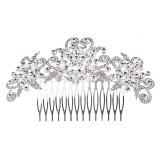 Bridal Wedding Jewelry Crystal Rhinestone Vintage Chic Hair Comb Pin Clear