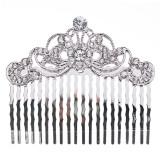 Bridal Wedding Jewelry Crystal Rhinestone Beautiful Vintage Hair Comb Pin Silver