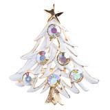 Christmas Jewelry Crystal Rhinestone Elegant Colorful Tree Brooch Pin BH87 Multi