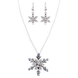 Christmas Jewelry Crystal Rhinestone Lovely Starfish Charm Necklace JN251 Clear