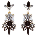 Striking Fashion Crystal Rhinestone Rare Elegant Dangle Earrings E827 Black