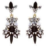 Striking Fashion Crystal Rhinestone Rare Elegant Dangle Earrings E827 Black
