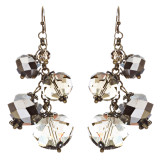 Modern Fashion Crystal Rhinestone Cute Cluster Design Dangle Earrings E833 Gray