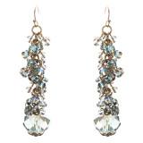 Contemporary Fashion Sophisticated Linear Long Drop Dangle Earrings E838 Blue