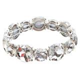 Bridal Wedding Jewelry Crystal Rhinestone Classic Engrossed Bracelet B417 Silver
