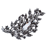 Bridal Wedding Jewelry Crystal Rhinestone Gorgeous Brooch Pin BH173 Black