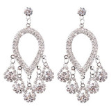 Bridal Wedding Jewelry Prom Crystal Rhinestone Fashion Dangle Earrings E1147 SV