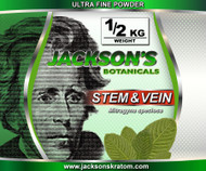 Once again Jackson's is offering the lowest price anywhere for stem & vein Ultra Fine powder.  Our stem & vein is freshly milled each day!   Remember... Just like everything else Jackson's Kratom offers, standard SHIPPING IS FREE!