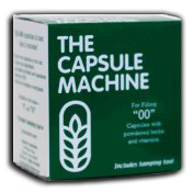 The Capsule Filling Machine for size 00 capsules.  Fills 24 capsules in just minutes!  Be sure to visit our Wholesale page where you can find empty capsules for this product.