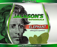 Jackson's is pleased to bring you our freshest Elephant Capsules.   Buying a fresh bulk bag of 400 Elephant capsules is the same price as buying 3 - 100 capsule bottles but, you're getting 100 capsules more for FREE!  Each capsule contains approximately 600mg of freshly milled Elephant powder.