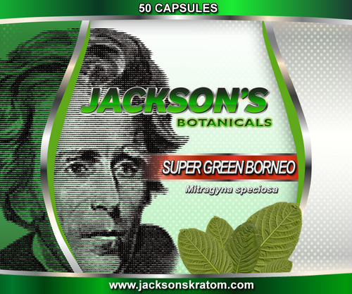 50 Capsules of our freshest Super Green Borneo Mitragyna speciosa.  Each capsule contains approximately 600mg of fresh powder.