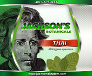 Jackson's is pleased to bring you our White Vein Thai Capsules.   Buying a bulk bag of 400 capsules is the same price as buying 3 bottles of 100 capsules but, when you purchase a bag of 400 fresh capsules you're getting 100 more for FREE!  Each capsule contains approximately 600mg of freshly milled Thai powder