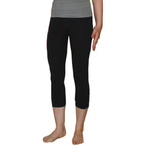Ladies leggings, black, organic fairtrade cotton