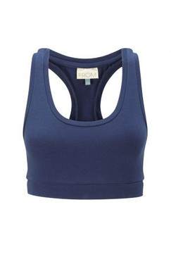 Organic Cotton Crop Top | Deep Ocean Blue | Snug Support