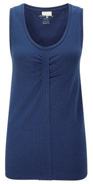 Blue Organic Cotton Yoga Top Front