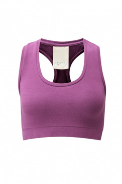 Organic Cotton Heather Pink Crop Top