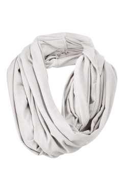 Silver Mist Snood as Scarf