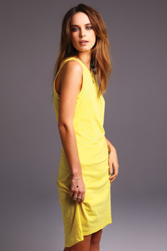Yellow Organic Cotton Tank Dress