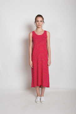 Jessie Maxi Dress - Red Stripe