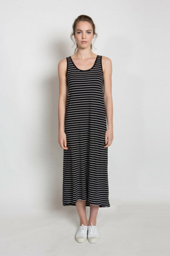 Jessie Maxi Dress Summer - Black Stripe