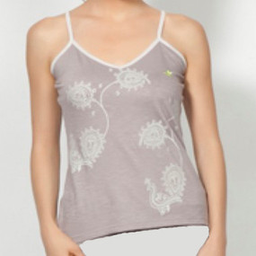 Organic Cotton Utkatasana Top, Grey front, detail