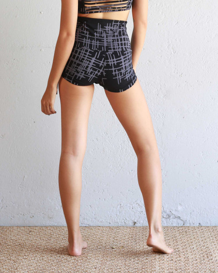 Gridlock Hot Yoga Shorts, Back