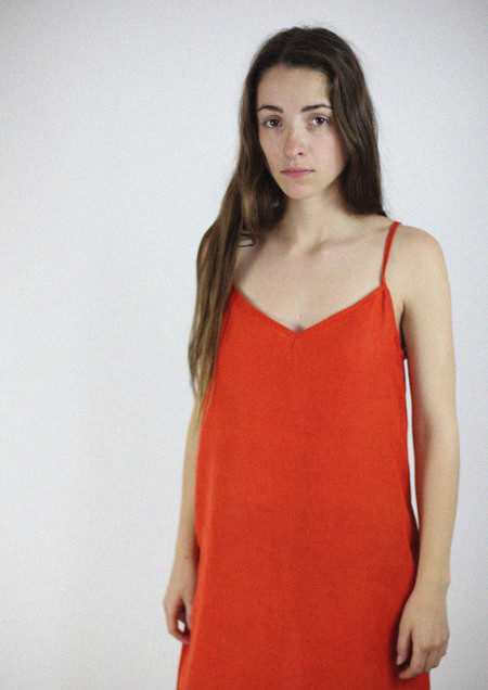 Bell Pepper Red Hemp Slip Dress