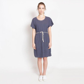 Aimee T-Shirt Dress Navy Stripe