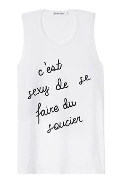 C'est Sexy | Muscle Tank Top | White