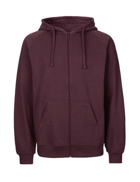 Bordeaux Organic Cotton Sweat Jacket Zip Front