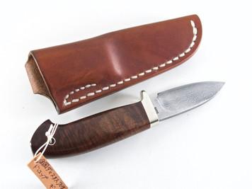 Kiyoshi Kato Damascus Hunting 70mm RINGED GIDGEE
