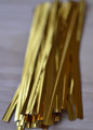 "4"" (100mm) Gold Metallic Twist Ties"