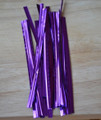 "4"" (100mm) Purple Metallic Twist Ties"