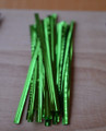 "4"" (100mm) Green Metallic Twist Ties"