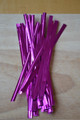 "4"" (100mm) Lilac Metallic Twist Ties"