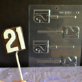 Number 21 Lollipop Chocolate Mould