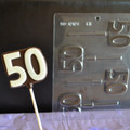 Number 50 Lollipop Chocolate Mould