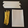 "25 4""x6"" Cello Bags, 25 Paper (150mm) Lollipop Sticks & 25 Twist Ties"