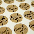 36 'Thank You' Round Stickers - 38mm Diameter